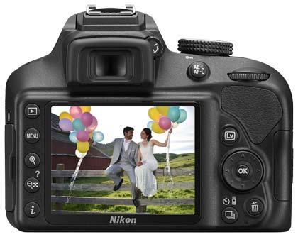 نمایشگر دوربین نیکون D3400
