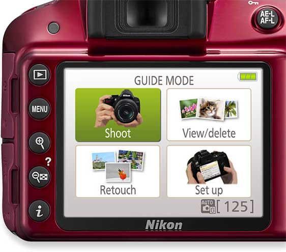 نمایشگر دوربین نیکون D3300